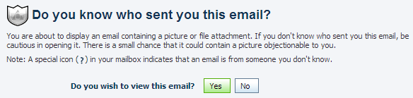 AIM's Email: Either display images or do not read the message at all.