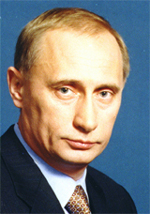 Image of President Vladmir Putin from http://www.russianembassy.org/RUSSIA/President.HTM