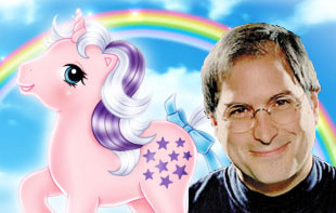 Steve Jobs and a pony