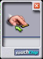 A screenshot of the fingerprint sensor window in Linux.