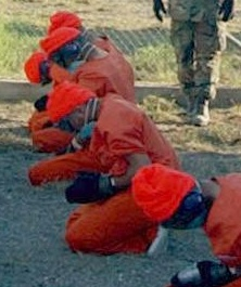 Detainees at Guantánamo Bay.