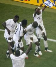 The Ghanaian team celebrating.