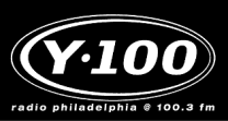 Logo of the now defunct Philadelphia radio station Y100.