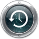 The icon for Apple's new Time Machine program, appearing in Mac OS X 10.5.