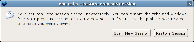 Firefox restores the data lost from when it crashed.