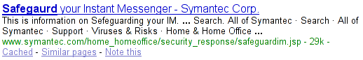 Symantec just cannot spell the word 'safeguard.'