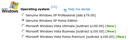 Buy a Lenovo laptop and get Windows Vista for cheaper for Windows XP.