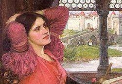 Detail from a painting of the Lady of Shalott by John William Waterhouse.
