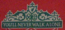 A close-up of the Liverpool FC flag.