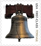 The United States Postal Service's new 'forever stamp.'