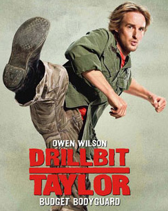Detail from the Drillbit Taylor movie poster.